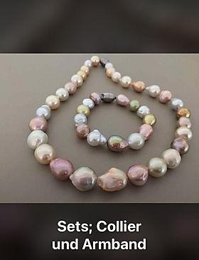 Sets; Collier und Armband perlenunikate.ch karin müller muhen