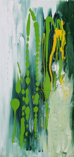 Le rane dal dardo velenoso -La rana Verde - L.60xH125- smalto su polistirene bassa risoluzione