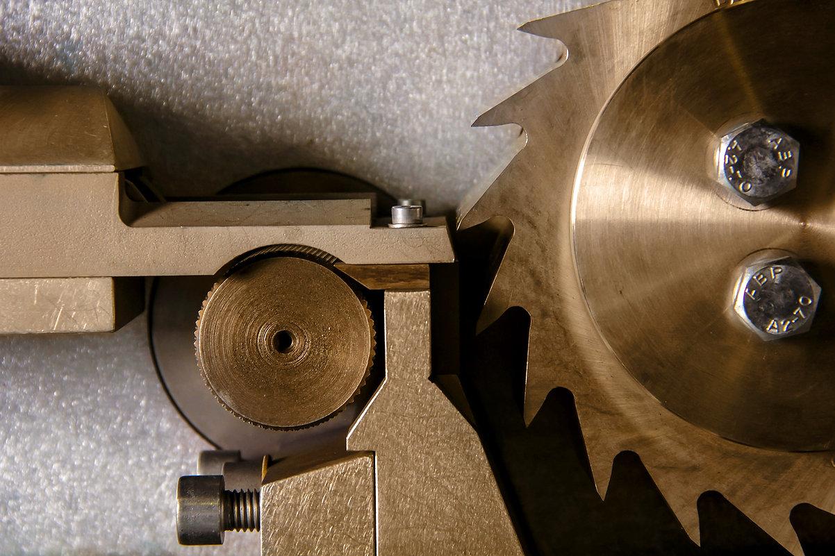machine à l'industrie de près