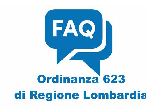 FAQ Ordinanza 623 Regione Lombardia