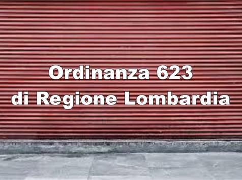 Ordinanza di Regione Lombardia n. 623 del 21/10/2020 le novita'