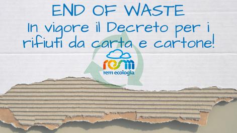 AMBIENTE: End of Waste della Carta: DM 188/2020