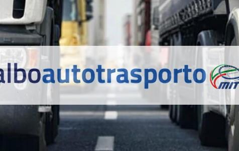 AUTOTRASPORTO - Aperta la procedura di pagamento quote 2022 dell'Albo dell'Autotrasporto