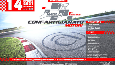 Il Premio Confartigianato Motori in pista con 'Imola 2021. GP Emilia Romagna'. Appuntamento il 14/04