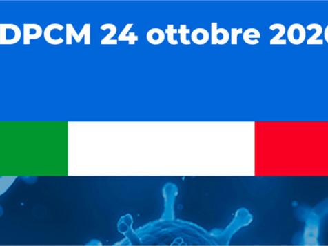 DPCM 24 ottobre: le nuove disposizioni