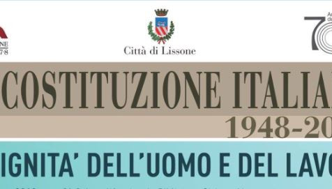 La costituzione italiana compie 70 anni: stasera il convegno