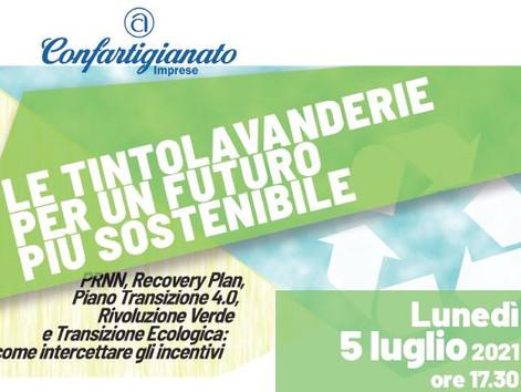PULITINTOLAVANDERIE - Webinar 5 luglio ore 17:30 Le tintolavanderie per un futuro più sostenibile