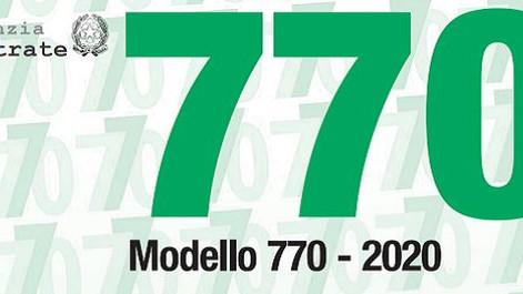 Trasmissione del MOD. 770/2020