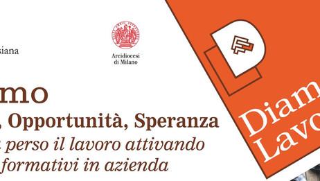 FONDO DIAMO LAVORO - Incontro del 24 Settembre ore 21:00 c/o l'Oratorio di Meda