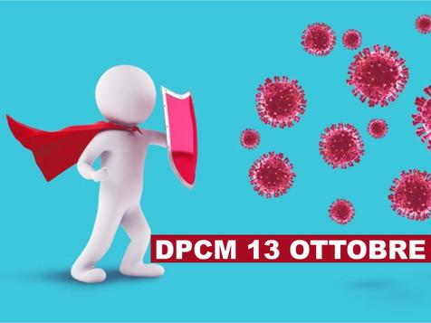 Sintesi del DPCM Anti Covid firmato in data 13 ottobre