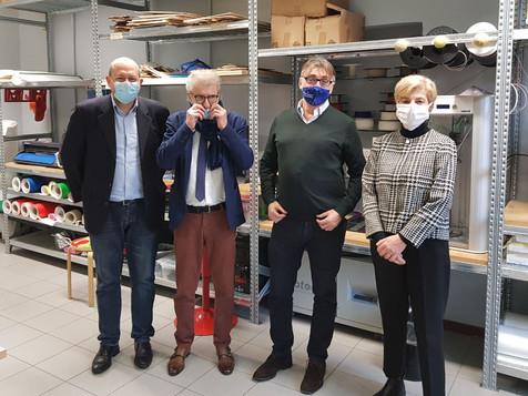 APA Confartigianato e I'Istituto Gatti in visita al Fab-Lab di Rozzano