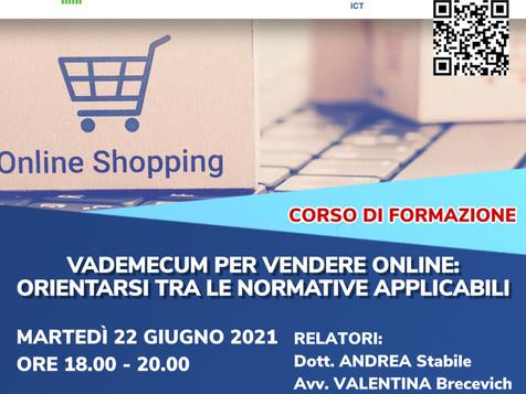 """DIH : WEBINAR  """"vademecum per vendere online: orientarsi tra le normative applicabili"""" - 22 GIUGNO"""