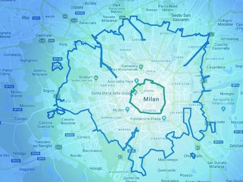 Area B, la nuova zona a traffico limitato del Comune di Milano