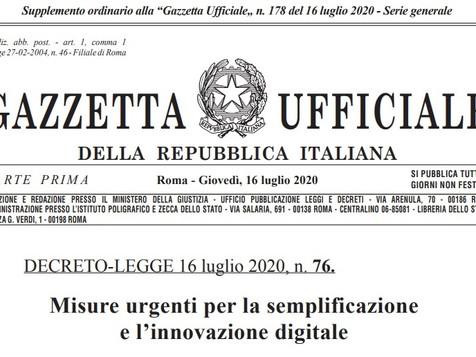 DL semplificazioni pubblicato in Gazzetta Ufficiale