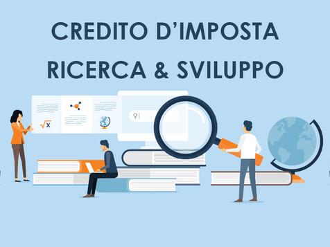FISCO - Credito d'imposta per gli investimenti in ricerca e sviluppo, innovazione tecnologica