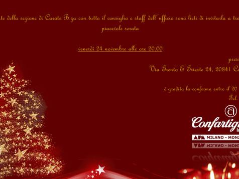 Carate Brianza. Invito alla cena di Natale