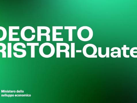 DECRETO RISTORI quater – Nuove proroghe per imprese e professionisti