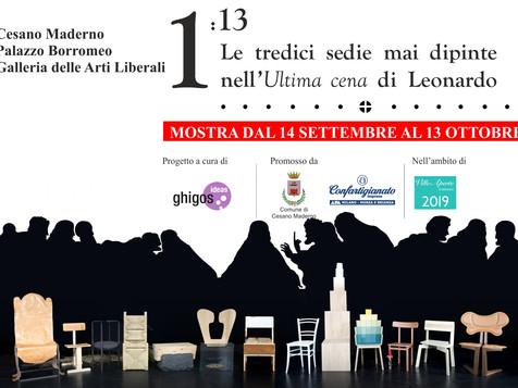 """Le tredici sedie mai dipinte da Leonardo a Palazzo Borromeo in occasione di """"Ville aperte"""""""