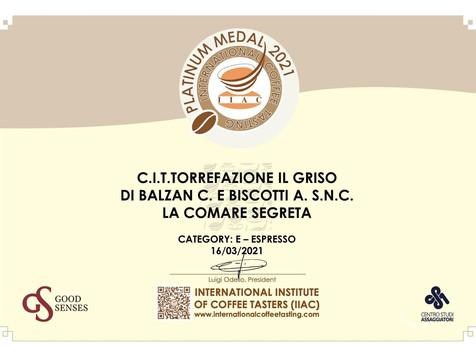 ALIMENTARI - International coffee tasting: assegnate le Platinum Medal 2021 ai 5 caffè top