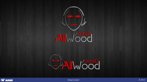 "Логотип ""AllWood sound's"""
