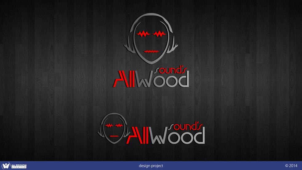 "Логотип ""AllWood sounds"""