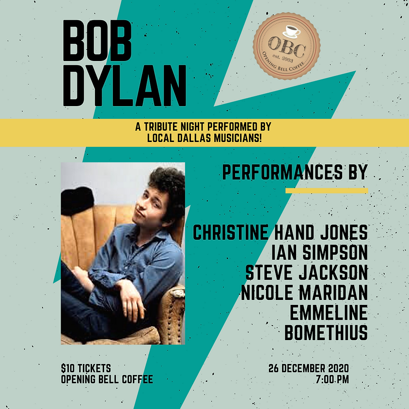 Bob Dylan Tribute Show 7:00 pm
