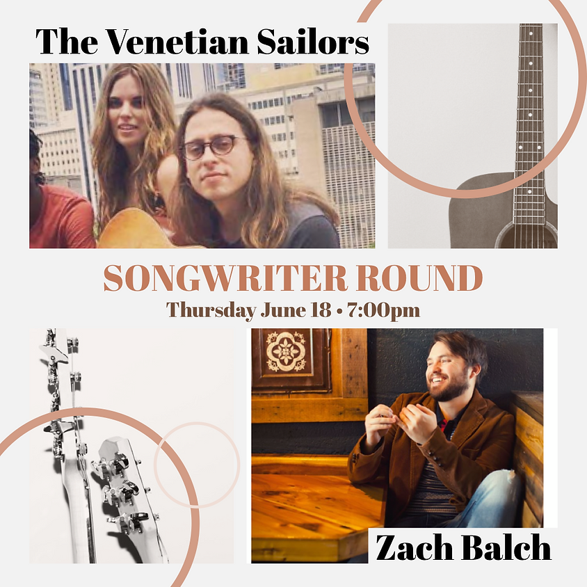 Songwriters in the Round 7:00 pm (Nashville style)