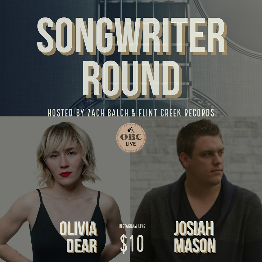 Songwriter in the Round (VIRTUALLY) 7:00 pm on INSTAGRAM LIVE