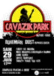 2019_Affiche Cavazik Park - Bohemian Dus