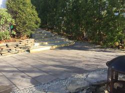 Stairs + patio