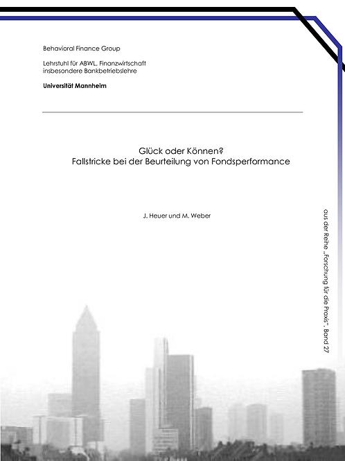 Behavioral Finance Band 27
