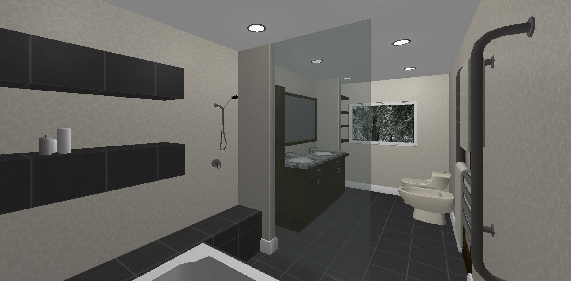 Master bathroom -  rendered view