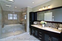 Remodeled finished bathroom