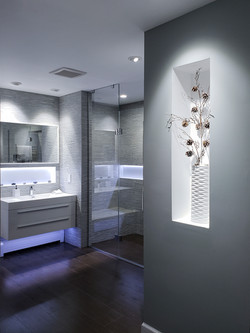Redesigned master bathroom