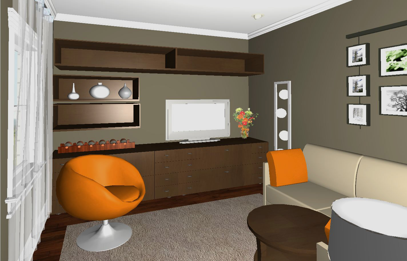 Duplex - 1st floor rendered view