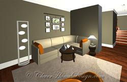 Duplex - 1st floor rendered plan