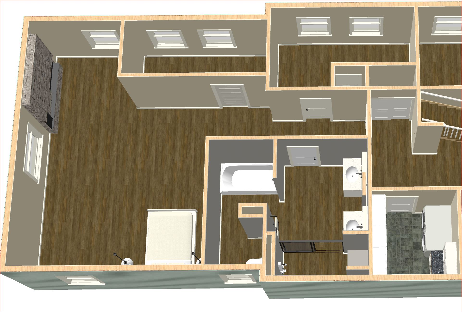 Master Suite - rendered plan