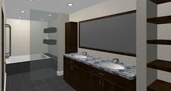Master bathroom - rendered view