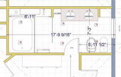 Renovation plan for master bathroom