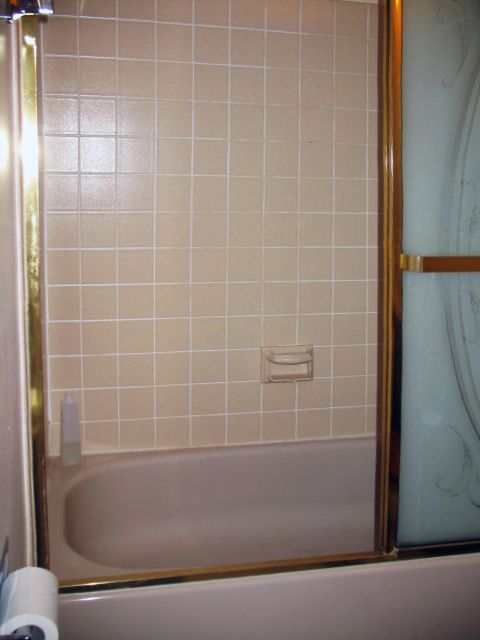 Compact bathroom before