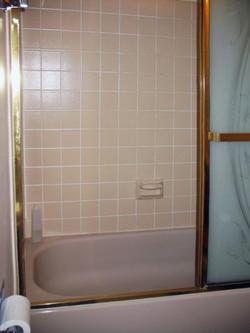 Compact bathroom before