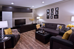 Remodeled basement