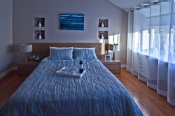 Master bedroom with featured wall
