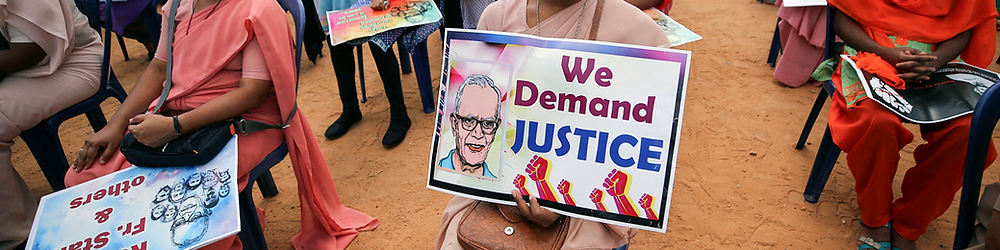 Protest for the 84 years old jesuit priest Stan Swamy