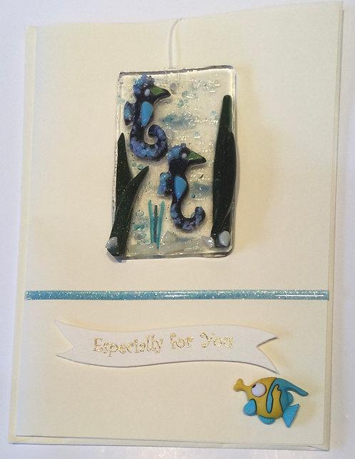 Glass Seahorse Card