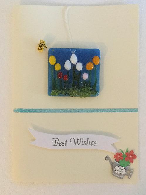 Glass Tulip Card