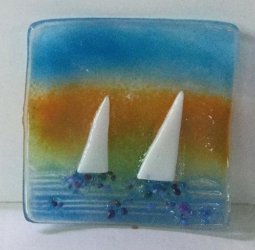 Sail Boats Dish