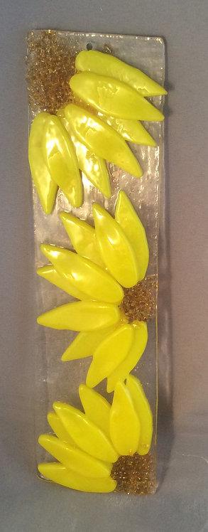 Fused Glass Sunflower Hanger