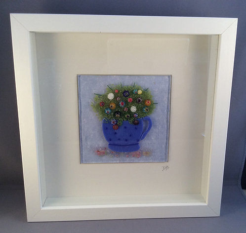 Fused Glass Flower Tea Cup Picture