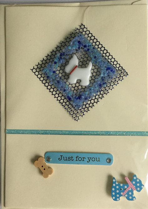 Glass Westie Card